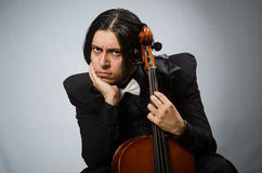 The man in musical art concept Stock Photography
