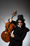 The man in musical art concept Royalty Free Stock Photography