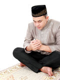 Man muslim doing prayer Stock Photo