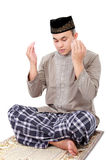 Man muslim doing prayer Royalty Free Stock Photo