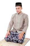 Man muslim doing prayer Stock Images