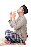 Man muslim doing prayer Stock Photos
