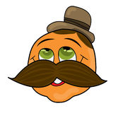 Man with a mustache. Vector illustration of a man with mustache Royalty Free Stock Images
