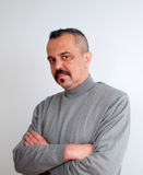 Man with mustaches. Picture of a Man with mustaches stock photography