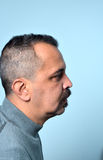 Man with mustaches. Picture of a Man with mustaches royalty free stock photos