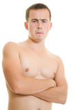 A man with a naked torso. Stock Photo