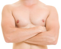 A man with a naked torso. Stock Photos