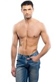 Man with naked torso Royalty Free Stock Image