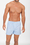 Man with naked torso in underwear. On neutral background Stock Photography