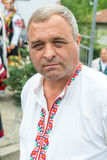 A man in a national Bulgarian costume at the Nestenkar Games, Bulgaria Stock Photos