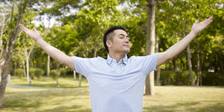 Man in nature Royalty Free Stock Image
