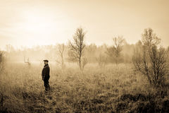 Man in nature Royalty Free Stock Photo