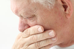Man with nausea close up Royalty Free Stock Image