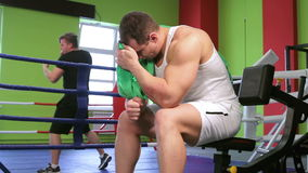 A man near the Boxing ring stock footage