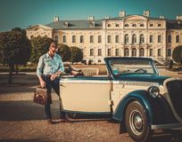 Man near classic convertible Royalty Free Stock Image
