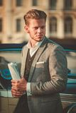 Man near classic convertible Royalty Free Stock Photography