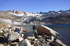 Man near a lake Stock Photography