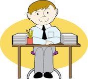 Man at a neat desk Royalty Free Stock Images