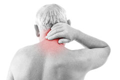 Man with neck pain Stock Images