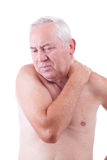 Man with neck pain Royalty Free Stock Images