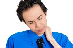 Man with neck pain Royalty Free Stock Photos