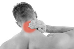 Man with neck pain Royalty Free Stock Photography