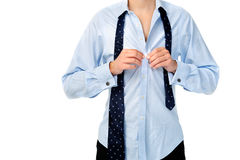 Man necktie Royalty Free Stock Photography