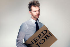 Man needs a job Royalty Free Stock Photo