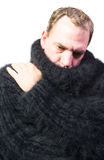Man is nestled Royalty Free Stock Images