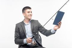 Man and net Stock Photography