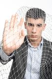 Man and net Stock Images