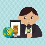 man news global money Stock Photos