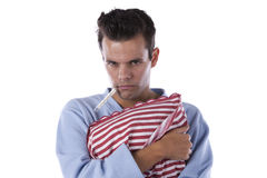 Man with nightclothes Stock Photo