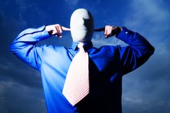 Man with No Face Royalty Free Stock Images