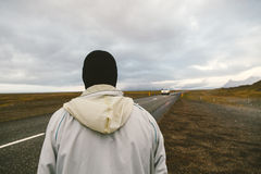The Man with No Face Hitch-hiking Stock Image