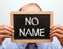 Man with no name Royalty Free Stock Photos