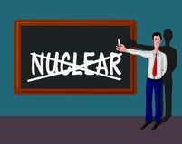 Man with no-nuclear concept Stock Image