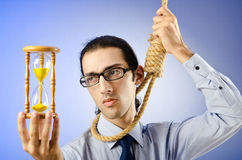 Man with noose around  neck Stock Photos