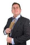 Man and noose necktie Stock Photos