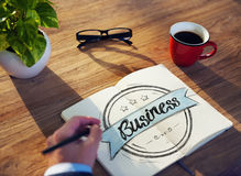 Man with Note Pad and Business Concept Royalty Free Stock Photo