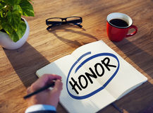 Man with Note Pad and Honor Concept Stock Image