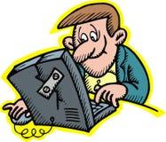 Man and notebook Stock Photos