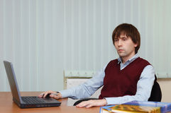 Man with notebook Stock Image