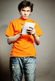 Man with notebook. stock photography