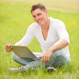 Man with notebook Royalty Free Stock Photo