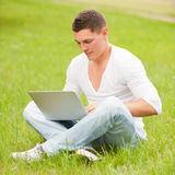 Man with notebook Royalty Free Stock Photography