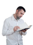 Man with notebook Royalty Free Stock Image