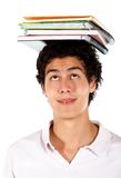 Man with notebooks Stock Images