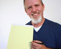 Man with notepad Royalty Free Stock Image
