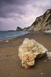 Man-o-War Bay - Dorset coast, England. This is looking west from the shore of Man O War Bay, on the Isle Of Purbeck Coast in Dorset Stock Photos
